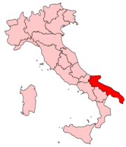 Map of Puglia