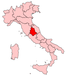Map of Umbria